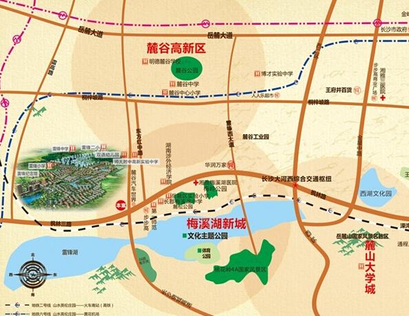 近靠西三环,贯通雷高路,临近汽车西站,更邻近地铁2号线,6号线,待地铁6